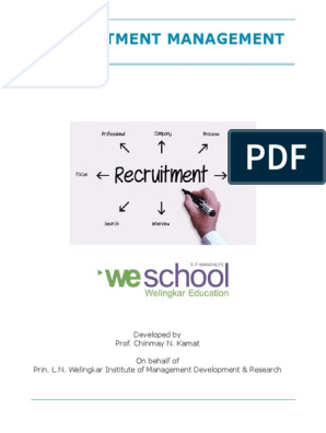 Recruitment Management 312 v1 | Recruitment | Employment