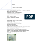 Funciones y Tarea de Enfermera