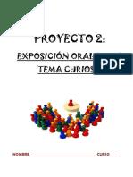 Proyecto Exposición oral de un tema curioso