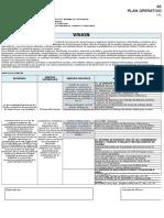 Formato Plan Operativo Institucional Poi - 2016