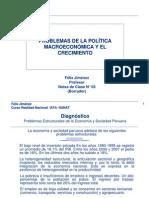 Clase03-Problemas del Crecimiento y de la Política Macroeconómica