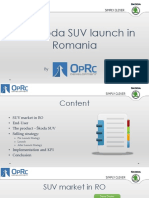 First Škoda SUV Launch in Romania - OpRc Development