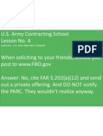 U.S. Army Contracting Lesson No. 4