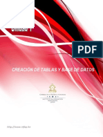 Unidad 1_Creación de Tablas y Bases de Datos