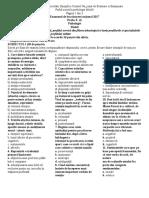 Test Psihologie Procese Reglatorii