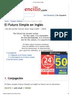 El Futuro Simple en Inglés