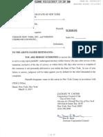 City of NY v. Verizon -Summons & Complaint