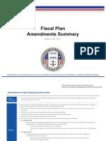 Resumen de Enmiendas Al Plan Fiscal