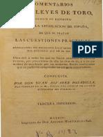 [1826} Comentarios a Las Leyes de Toro