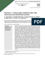Microcyn a Novel Super-oxidized Water