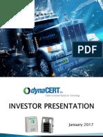 Dyna Cert Investors Presentation January 2017