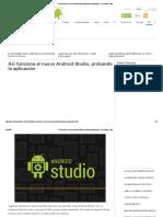 INFORMATICA - Android, Así Funciona El Nuevo Android Studio, Probando La Aplicación - El Androide Libre
