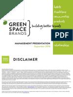GreenSpace Brands Management Presentation October 2016