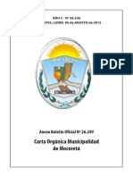 Anexo Carta Orgánica Municipalidad de Mocoreta- 06-08-2012