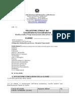 Allegato C Relazione Finale Di Classe
