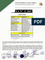 Acta 2/2017 Comité de Seguridad y Salud Laboral Tragsa UT 2 CV