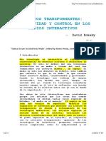 Espejos Transformantes Subjetividad y Control en Los Medios Interactivos