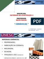 Aula 02-22-07-16 - Materiais de Construção II