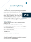 Manual Accessibility Testing for Keyboard