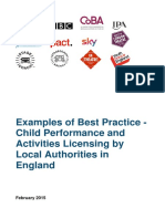 Examples of Best Practice Child Performance