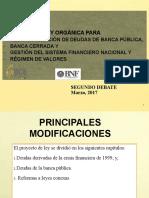 Presentacion Segundo Debate Ley Orgánica para reestructuración de deudas de la Banca Pública
