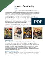 Propaganda and Censorship in WW2