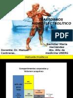 TRASTORNOS HIDROELECTROLITICOS.