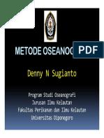 Metode Oseanografi Dr. Denny Nugroho S
