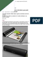 G1 - Designer desenvolve leitor eletrônico que pode ser 'enrolado' como jornal - notícias em Tecnologia e Games
