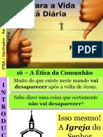 16 - A Ética Da Comunhão