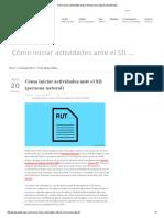 Cómo Iniciar Actividades Ante El SII (Persona Natural) _ Grafiscopio