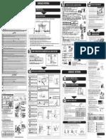 Panasonic Econavi Split 12000 Cs PS12PKV 7 Manual de Instalacao