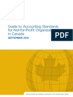Guide to Accounting Standards for Not for Profit Organizations September 2012