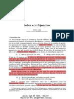 Laka (1995) - Sobre El Subjuntivo