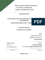 Contabilitatea Şi Controlul de Gestiune Al Datoriilor