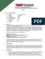 Sílabo de Investigación de Operaciones (UAP)