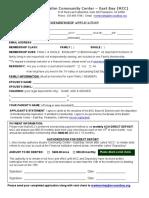 MCC East Bay - Membership Form