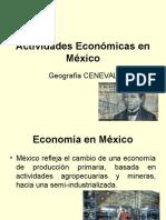 Actividades Económicas en México - Geografía