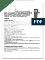 Medidores de Vibracion Salida Rs232 Datalogger Vt 8204 Lutron Manual Ingles