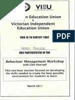 behaviour management strategies certificate