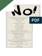 Otras Formas de Decir No