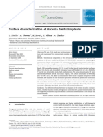 Surface Characterization of Zirconia Dental Implants