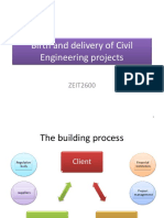 Birth and Delivery of Civil Engineering Projects