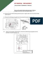 Atf Drain & Fill & Leveling - Camry u760e
