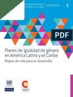 Planes de Igualdad de Género en América Latina y El Caribe