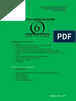 Estructura Del Proyecto Lean Seis Sigma 2017