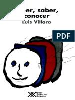 Luis Villoro-creer, Saber, Conocer