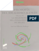 Villacañas Berlanga Jose Luis - La Filosofia Del Idealismo Aleman - Vol II