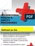 Occupationa Health and Safety NC II