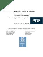 Judicial Activism – Justice or Treason